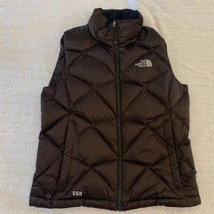 Northface 550 Puffer Vest - Brown, Size S